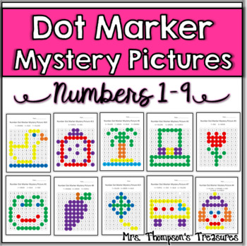 Numbers 1-9 Dot Marker Mystery Picture Activities