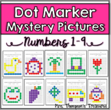 Preschool Numbers 1-9 Dot Marker Mystery Pictures