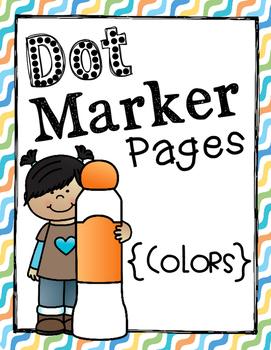 Dot Marker Pages {Colors}
