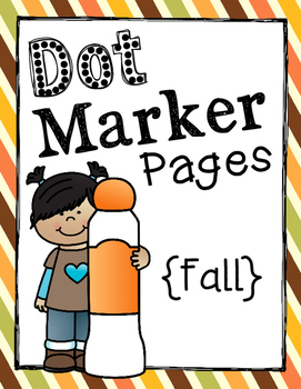 Dot Marker Pages {Fall}