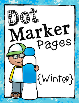 Dot Marker Pages {Winter}