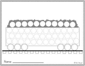 Dot Marker Activity Printables | Transportation