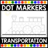 Dot Marker Activities   Transportation Do A Dot Printables