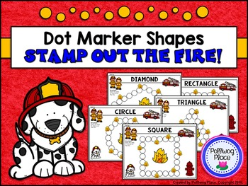 Dot Marker Shapes - Fire Safety - Stamp Out the Fire! {FREEBIE}