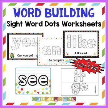 Dot Marker - Sight Word Building Activity Mats - Heidi Songs