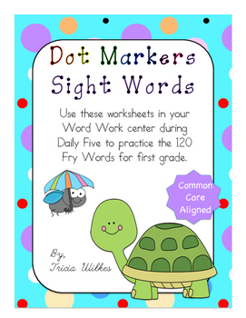 Dot Marker Sight Words (24 Lists)