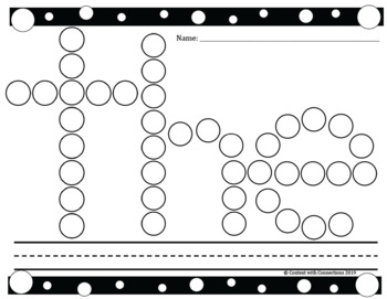 Dot Marker Sight Words: FREE 5 high frequency words to stamp with Bingo Markers