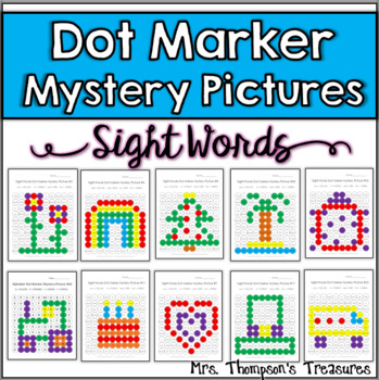 Sight Word Dot Marker Mystery Picture Activities