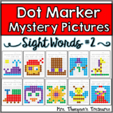 Sight Words Mystery Pictures Activities Set 2