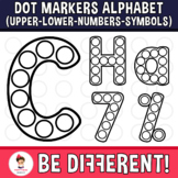 Dot Markers Alphabet Clipart Letters Uppercase Lowercase Numbers Bingo Dabbers