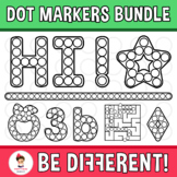 Dot Markers Bundle Clipart Bingo Dabbers