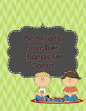 Dot Math Number Character Cards