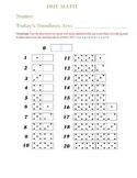Dot Math Worksheet - More than 20