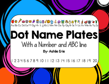 Dot Name Plate with Alphabet and Number line