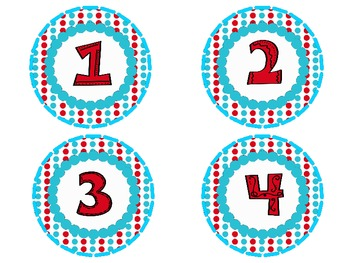 Dot Number Labels