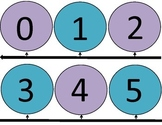 Dot Number Line to 50