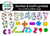 Dot Number & Math symbols 2 clipart (Chiffres à pois & sym