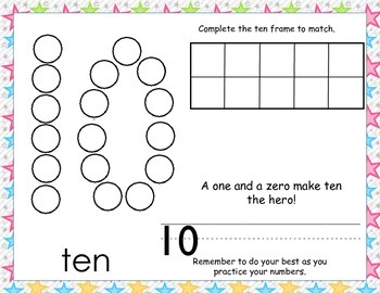 Dot Number Practice 1-20