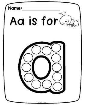 Dot Paint Alphabet {Lowercase Letters}