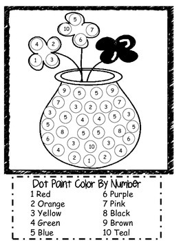Dot Paint Color By Number Posters