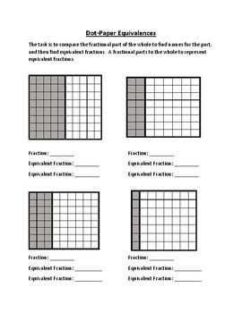 Dot-Paper Fraction Equivalence Independent Practice Worksheet