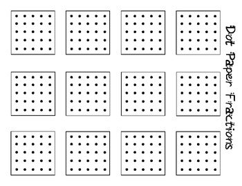 Dot Paper Fractions- Differentiated Challenge Problems