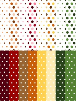 Dot Papers ~ Fall Colors