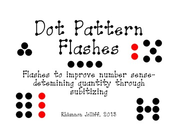 Dot Pattern Flashes- Working on Number Sense