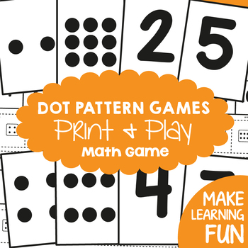 Subitizing Pack - Dot Pattern and Number Cards and Games