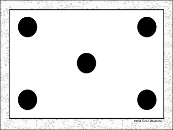 Dot Pattern Recognition Posters and Flash Cards