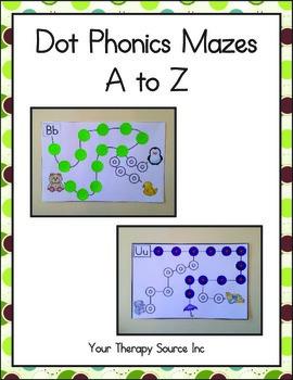 Dot Phonics Mazes Fine Motor Visual Motor Skills
