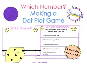 Dot Plot Graphing and Worksheet Activity (or Game)