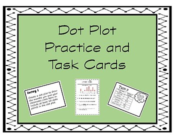 Dot Plot Practice and Task Cards
