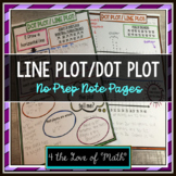 Dot Plots/Line Plots No Prep Note Pages