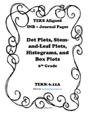Dot Plots, Stem-&-Leaf Plots, Histograms, and Box Plots INB TEKS 6.12A