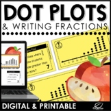 Dot Plots and Writing Fractions Activity | Printable | Goo
