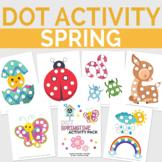 Dot Spring Activity Pack, Preschool Season Dot Worksheets