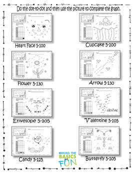 Dot-To-Dot & Graph Valentine- Count by 5s