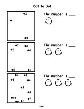 Dot To Dot Numbers