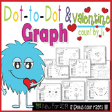 Dot-To-Dot and Graph Valentine -Count by 1s (2019 Bonus)