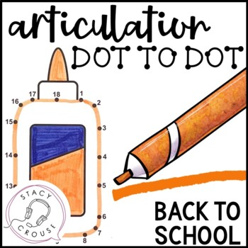 Dot To Talk Articulation Activity: Back To School