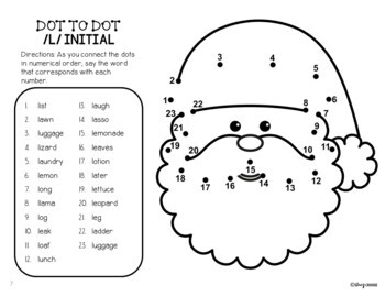 Dot To Talk Articulation Activity: Christmas