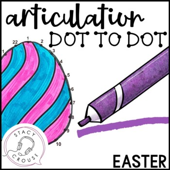 Dot To Talk Articulation Activity: Easter