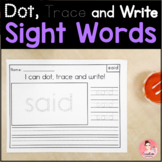 Dot, Trace and Write Sight Word Activity for Kindergarten