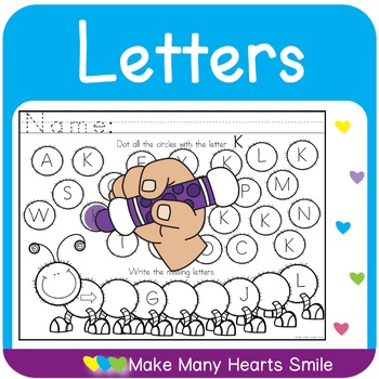 Dot a Circle: Letters