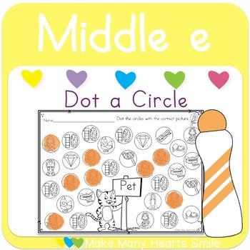 Dot a Circle: Middle e