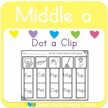 Dot a Clip: Middle o