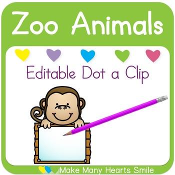 Dot a Clip: Zoo Animals