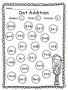 Dot-a-Dot Addition and Subtraction-Freebie!