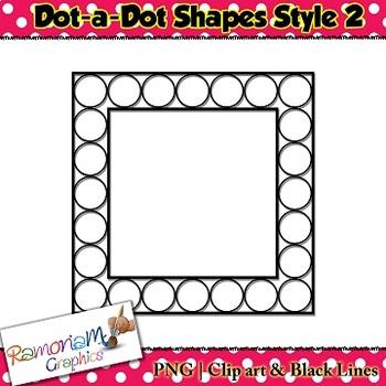 Dot-a-Dot Shapes clip art